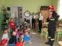 Grupa pożarnicza z wizytą u przedszkolaków