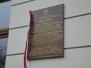 Odsłonięcie tablicy upamiętniającej działalność rodziny Spólników