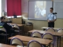Spotkanie klas pożarniczych z kadetem Szkoły Aspirantów PSP w Krakowie