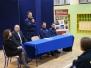 Spotkanie uczniów XVI LO z Komendantem Policji w Tarnowie